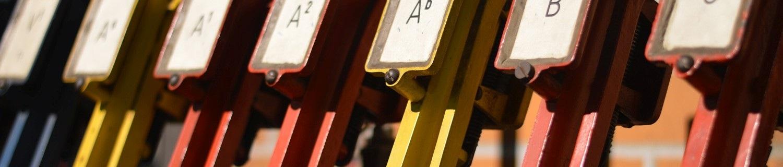 Stellhebel für Weichen, Bahntechnik, Bahnbetrieb