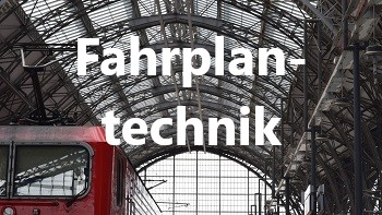 Zug im Bahnhof, Fahrplantechnik, Themen, Bahntechnik, Bahnbetrieb