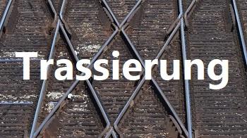 verschränkter Gleiswechsel, Formeln, Bahntechnik, Bahnbetrieb
