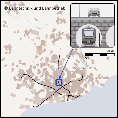 U-Bahnnetz, Karten, Bahntechnik, Bahnbetrieb